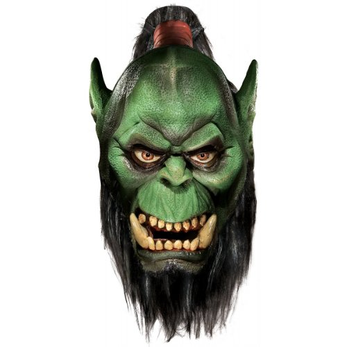 World Of Warcraft Deluxe Latex Mask, Orc, Brown, One -
