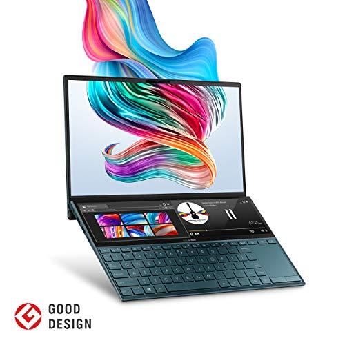 🥇 ASUS ZenBook Duo 2 en 1 Laptop – 14″ Full HD NanoEdge Bezel Touch