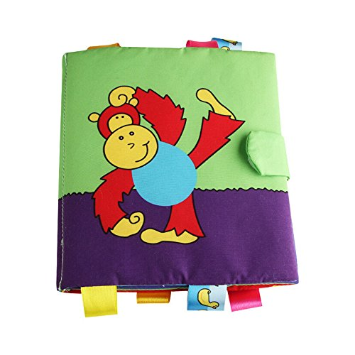 Gbell  Nontoxic Fabric Baby Cloth Books Baby Soft Activity Book Learn Picture Cognize Animal Book Intelligence Development Cloth Book Early Toy for Toddlers