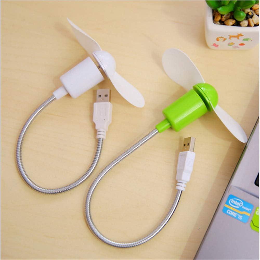 PC Notebook Fan Laptop Desktop PC Computer Fan,White Mini USB Fan Gadgets Flexible for Laptop Fan