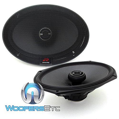 Alpine R-Series 6 x 9 Inch 300 Watt Component 2-Way Car Speakers, Pair | R-S69 -