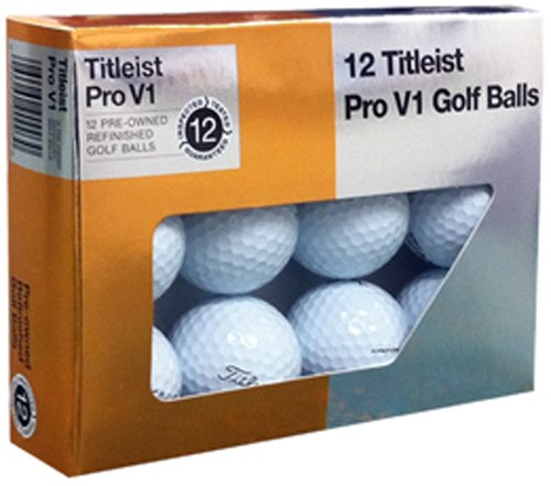 Titleist Pro V1x Mint Refinished Golf Ball, White, Package may vary by Titleist