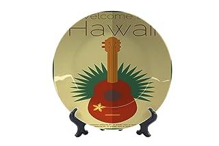 Piatti Giramondo Hawaii Ceramica Stampato