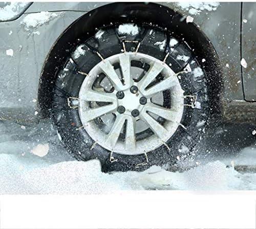 携帯用緊急牽引車のスノータイヤの滑り止めの鎖 スノーチェーン SUV車用ブラックカーセキュリティチェーンオフロード安全なスノータイヤホイールチェーン緊急肥厚アンチスキッドベルトレッド TPUバンおよび軽トラック用ユニバーサルフィットタイヤ繰り返し使用 (Size : 185/65R14)