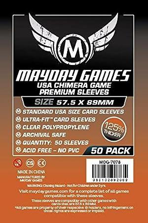 10 Packs 7039 1.000 Mayday Mini US 41 x 63 Board Game Sleeves American