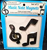 DPW Music Musical Notes Metal Magnets Refrigerator Decoration Black Piano Note Holder 3 Pieces