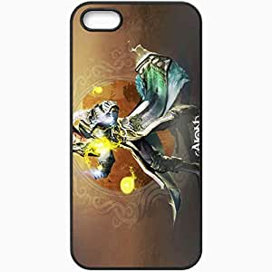 Personalized iPhone 5 5S Cell phone Case/Cover Skin Aion The Tower Of Eternity Battle Magic Wings Book Sky Black