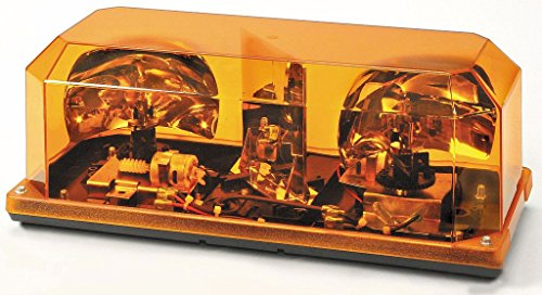 (Wolo (3500P-A) Priority 1 Halogen Emergency Warning Mini Light Bar - Amber Lens, Permanent Mount)