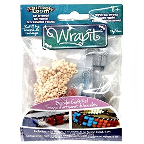 Wrapit Loom Refill Kit – Handmade Bead Bracelet Supplies – Make 5 More Bracelets on Wrapit Loom!