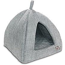 Best Pet Supplies Linen Tent Bed for Pets - Grey, Medium
