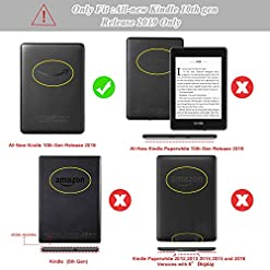 HoYiXi All-New Kindle 2019 Case Slim Leather Cover Smart Standing Cover with Auto Sleep/Wake Painted Shell for Amazon All-New Kindle 2019 Release-Rose