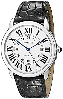 Cartier Men's W6701010 Ronde Solo Analog Display Automatic Self Wind Black Watch