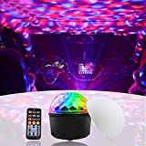 Aoile LED Sound Activated Disco Lights 9 Colors Lighting with Bluetooth Speaker USB Charging Remote Control for Home Party, Festival Holiday, Nightclub, DJ Karaoke, Bar, Wedding Decoration