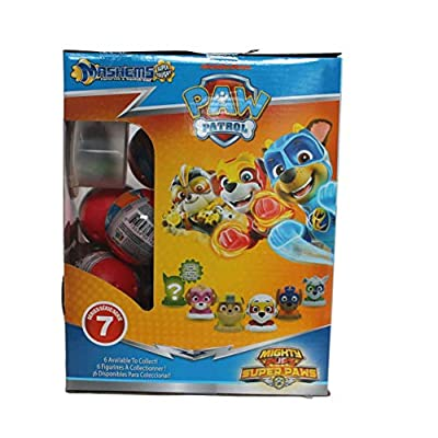 Mashems Paw-Patrol Mighty Pups Super Paws Series 7 ( 4 Sphere Pack): Toys & Games