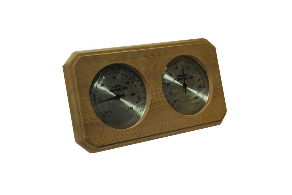 Northern Lights Group Cedar Sauna Thermometer and Hygrometer