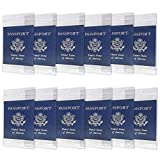 Passport ID Badge Holders 12 Pack Safe Flight Retail Bundle - Transparent - Extra Large 6x4