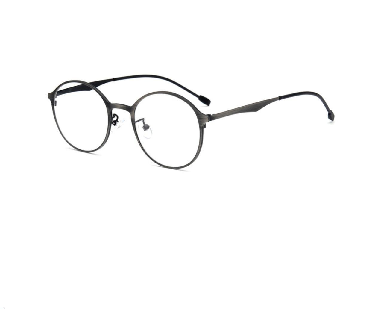 GCR Sunglasses Polarized light Shade glasses Léger et confortable inox lunettes femmes de cadres rétro mâle myopie verres circulaires , c4