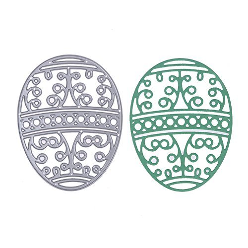 Whitelotous Cutting Dies Stencil Metal Template Mould for DIY Scrapbook Album Paper Card (Easter Egg)