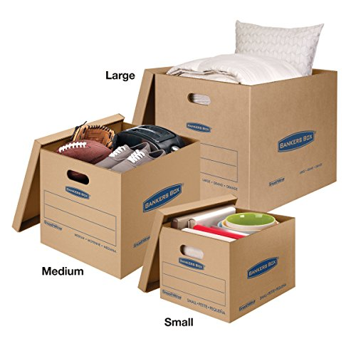 Bankers Box SmoothMove Classic Moving Boxes, Tape-Free Assembly, Easy Carry Handles, Small, 15 x 12 x 10 Inches, 20 Pack (7714210) by Bankers Box (Image #4)