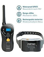 PetTec Addestratore Remoto Remote Vibra Trainer Advance Impermeabile con 600m di Portata, Collare educativo con Vibrazione o Suono Tramite Telecomando Anti-abbaio IPX7