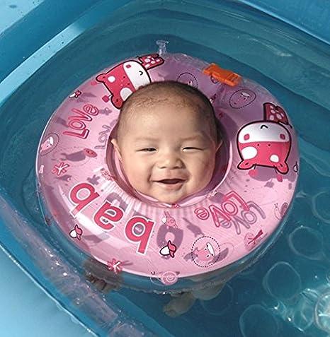 Ajustable inflable bebé recién nacido niño nadar agua cuello flotador niño infantil anillo de natación piscina ayudas trainer juguetes para niños bebés ...