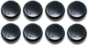 Plastic 1.5-inch Wrought Iron Patio Furniture Glide Caps (8, Black)