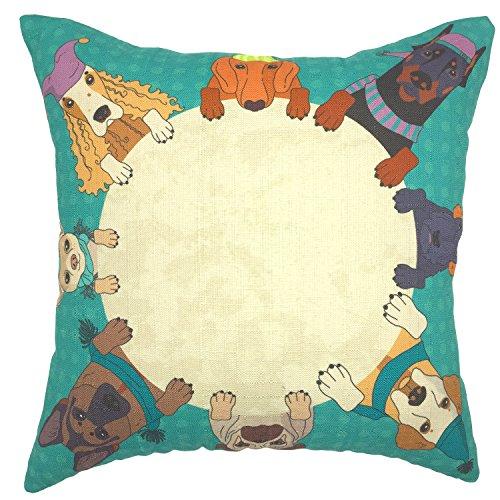 YOUR SMILE Cotton Linen Square Decorative Throw Pillow Case Cushion Cover 18x18 Inch(44CM44CM) (Color#391)