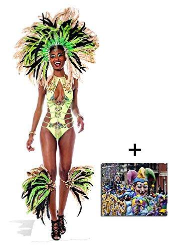 Fan Pack - Brazilian Madi Gras Carnival Babe lifesize Cardboard Cutout / Standee / Standup - Includes 8x10 Star Photo