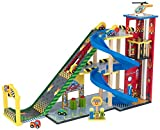 Most Popular Fun New Kids Toddlers Children's Play Activity Center With Car Wash, Ramps, Helicopters Racing Autos and More- Wood Construction Best Seller- Ramp Race Parking Garage- Fun For All Ages
