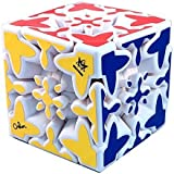 Mefferts Gear Mixed Up White Puzzle Cube By Oskar Twisty Toy (Advance Gear Cube) NEW