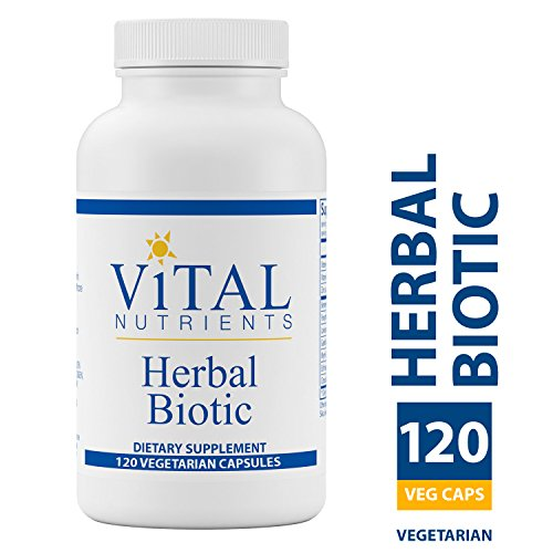 Vital Nutrients – Herbal Biotic – Herbal and Nutritional Support for the Immune System – Upper Respiratory Sinus Health – 120 Vegetarian Capsules per Bottle
