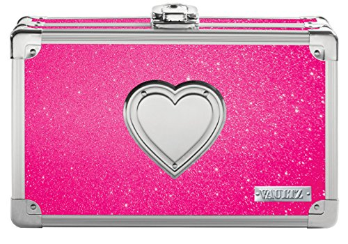 Bling Heart Bling (Vaultz Locking Supply Box, 8.5 x 5 x 2.5 Inches, Pink Bling with Heart (VZ03708))