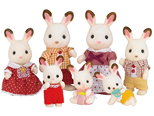 JP Sylvanian Families U-67 Chocolate Rabbit Twins Baby Doll