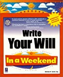 Write Your Will in a Weekend, Christine Sovich, 0761523782