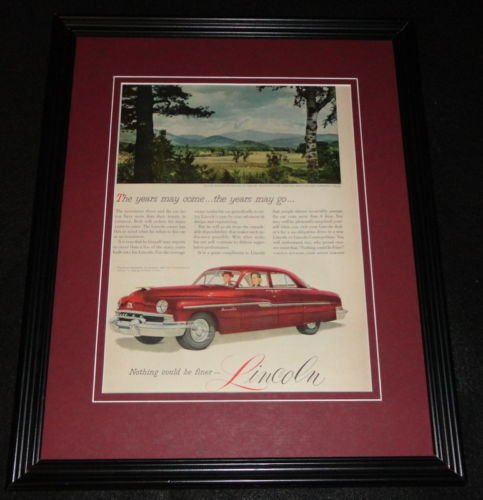 (1951 Lincoln Framed 11x14 ORIGINAL Vintage Advertisement)
