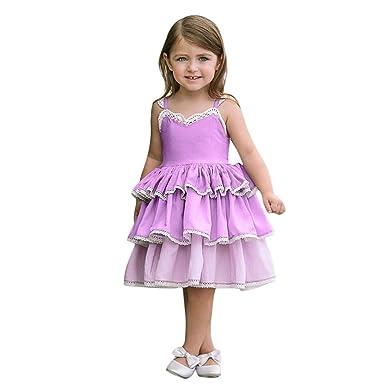 OPAKY Niños Chicas Flor Princesa Vestido de Fiesta Dama de Honor ...