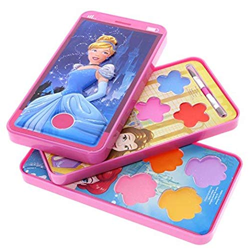Disney Princess Sparkly Lip Gloss For Girls in Play Cell Phone Compact