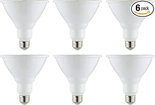 65K 6 Pack E26 ETL Listed Daylight 120W Equivalent Medium Base 1350 Lumens 18 Watts Dimmable Sunlite 41382-SU LED PAR38 Reflector Bulb