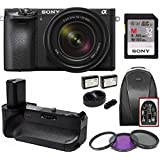 Sony a6500 Mirrorless Camera with 18-135mm Lens Grip Bundle