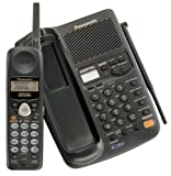 Panasonic KX-TC1743B 900 MHz Cordless Phone with Caller ID, Answering Device & Speakerphone (Black)