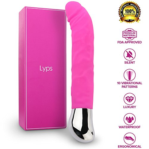 Vibrator Adult Toy Dildo Vagina Sex Things for Couples Upgraded Silicone 10 Speed G Spot Vagina and Clitoris Vibrating Vibrator, Lyps