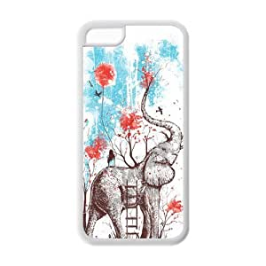 Protective Phone Cover Vintage Elephant Design Cheap Custom Case for iPhone 5c 5c-AX924090 Kimberly Kurzendoerfer