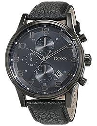 Hugo Boss Men's 1512567 Black Leather Analog Quartz Watch