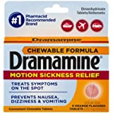 Dramamine Motion Sickness Relief Chewable Tablets, Orange Flavored, 8 Count (Pack of 2) cvi&Lz