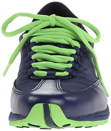 Lauren Falon Fashion Sneaker Modern Marine / Lime Pearl Net / Cotton Mesh
