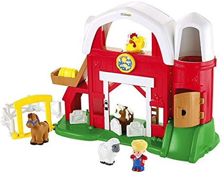 Fisher Price Mattel Y8661 Little People Animal Sounds Farm Amazon Co Uk Toys Games