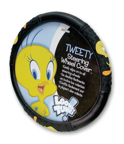 Plasticolor Tweety Attitude Steering Wheel Cover 006454R01