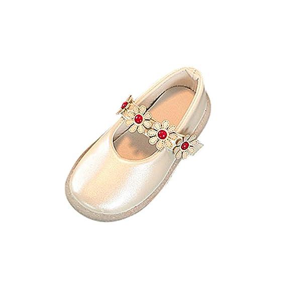 ed0a759a4 Zapatos De Bebé ZARLLE Zapatillas de Deporte de bebé recién Nacido Patucos  Primeros Pasos Patrón de Recorte de Arco Princesa Zapato de Cuero Zapatillas  ...