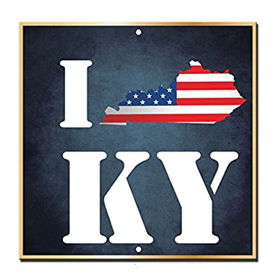 I Map Kentucky Novelty Funny Metal Sign 12 in x 12 in