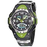 Boys Watches Sport 100M Waterproof 3 Alarm Analog Digital Dual Time Electronic Watch Teenage Adult Wrist Watches 1018AD